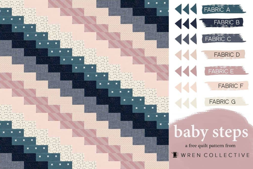free fat quarter baby quilt pattern diagram