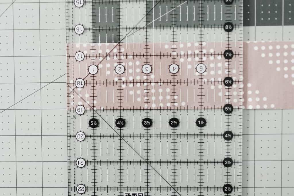 Making large rectangle sub-cuts with quilting ruler