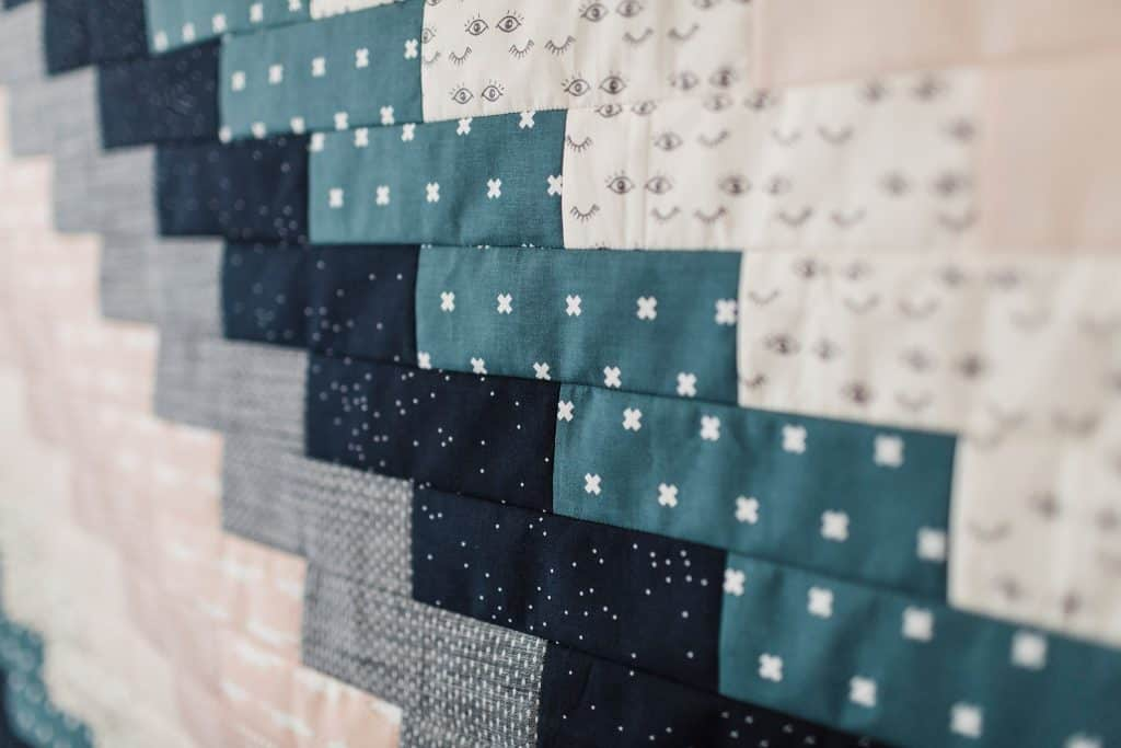 detail shot of fat quarter baby quilt
