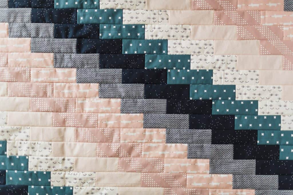 fat quarter baby quilt close up