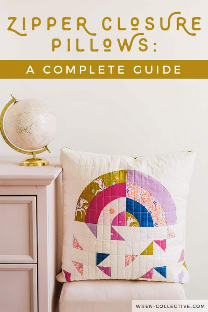 Adding a zipper closure to a quilted pillow is a breeze with this step by step photo tutorial. This guide is great for beginner quilters!