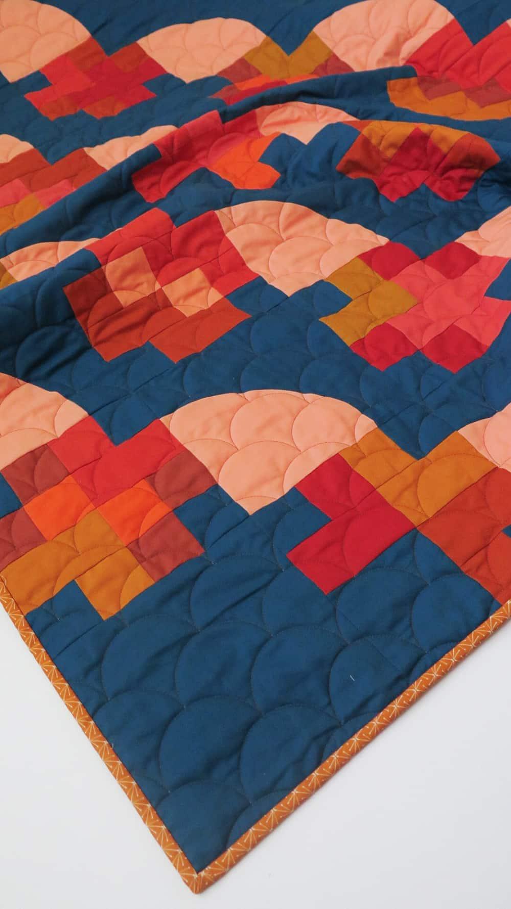 Modern Sampler Quilt - Marcella Quilt Pattern - Wren Collective - Fabric Stork 002