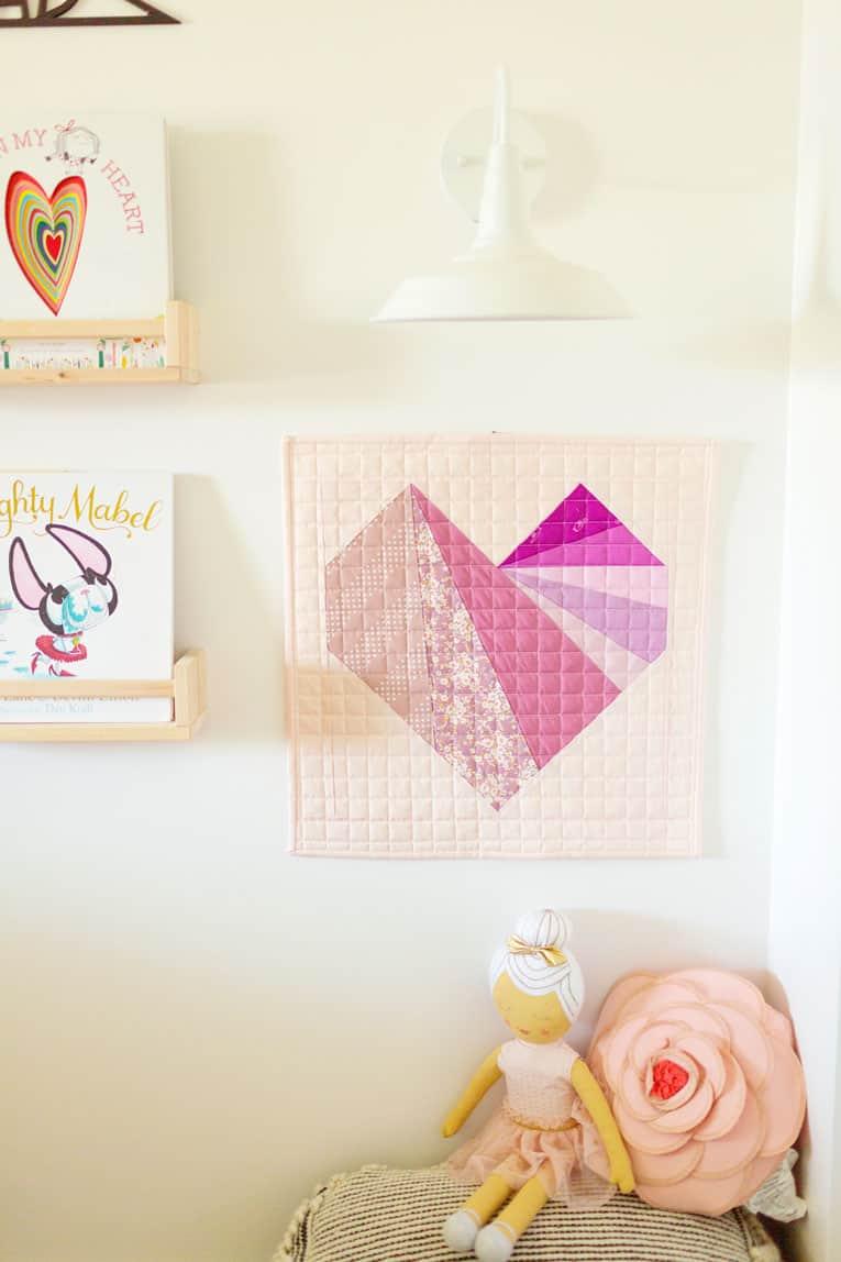 Kinfolk Modern Sampler Quilt-Wren Collective-Heart Quilt Block 001