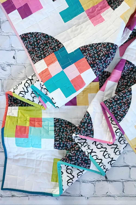 Modern Sampler Quilt - Marcella Quilt Pattern - Wren Collective - Fabric Stork 001