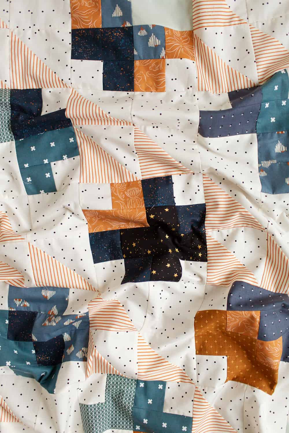 Marcella and Mae quilts from Wren Collective -- Mae baby quilt