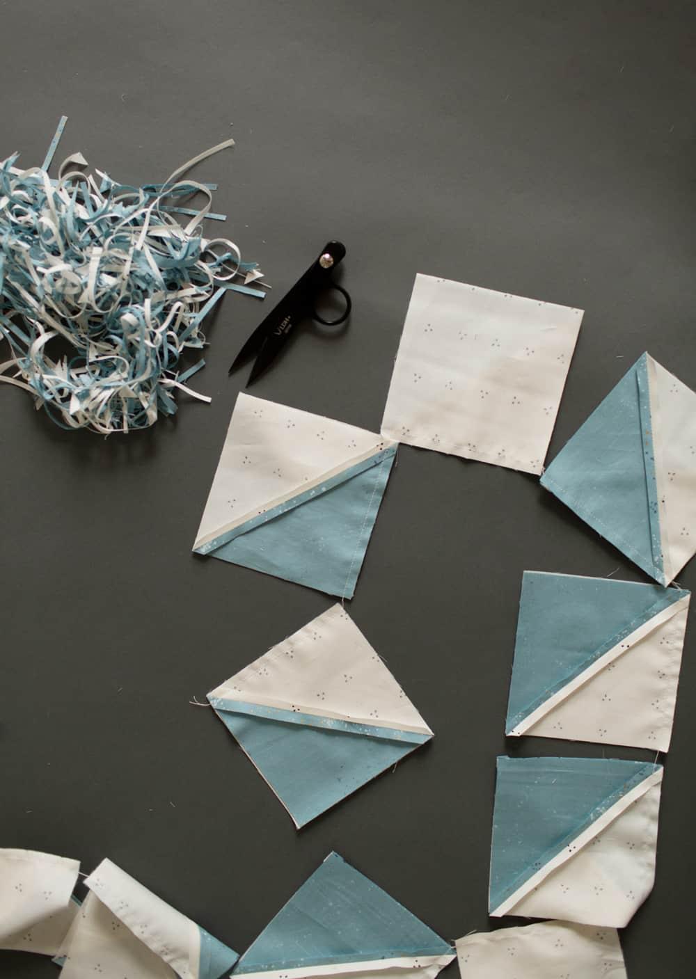 Cover Mae half square triangles