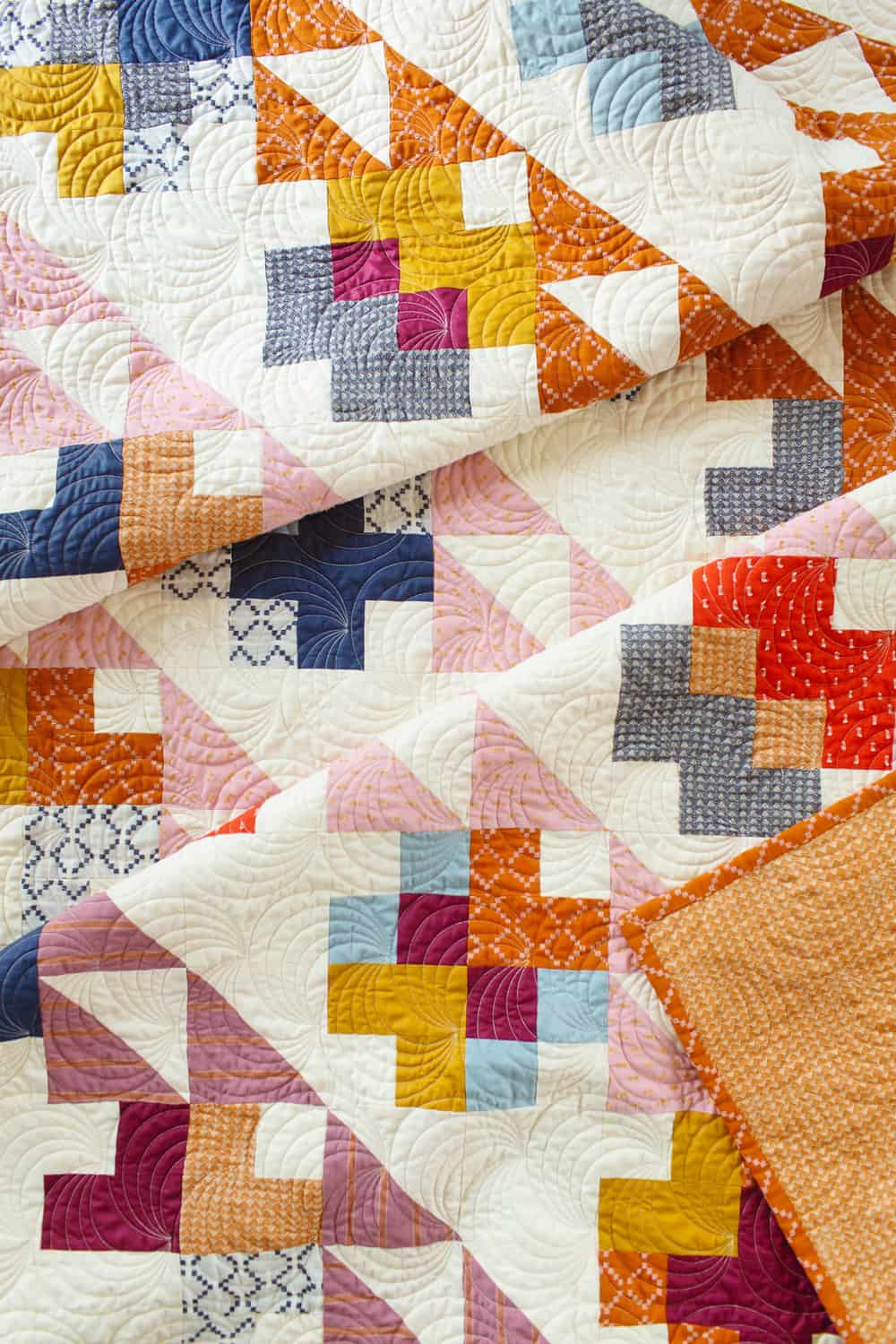 The Mae Quilt Variation - Top Detail Shot
