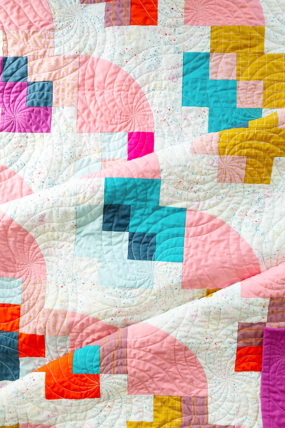 The Marcella and Mae Quilts from Wren Collective -Top Detail of Cover Version 002