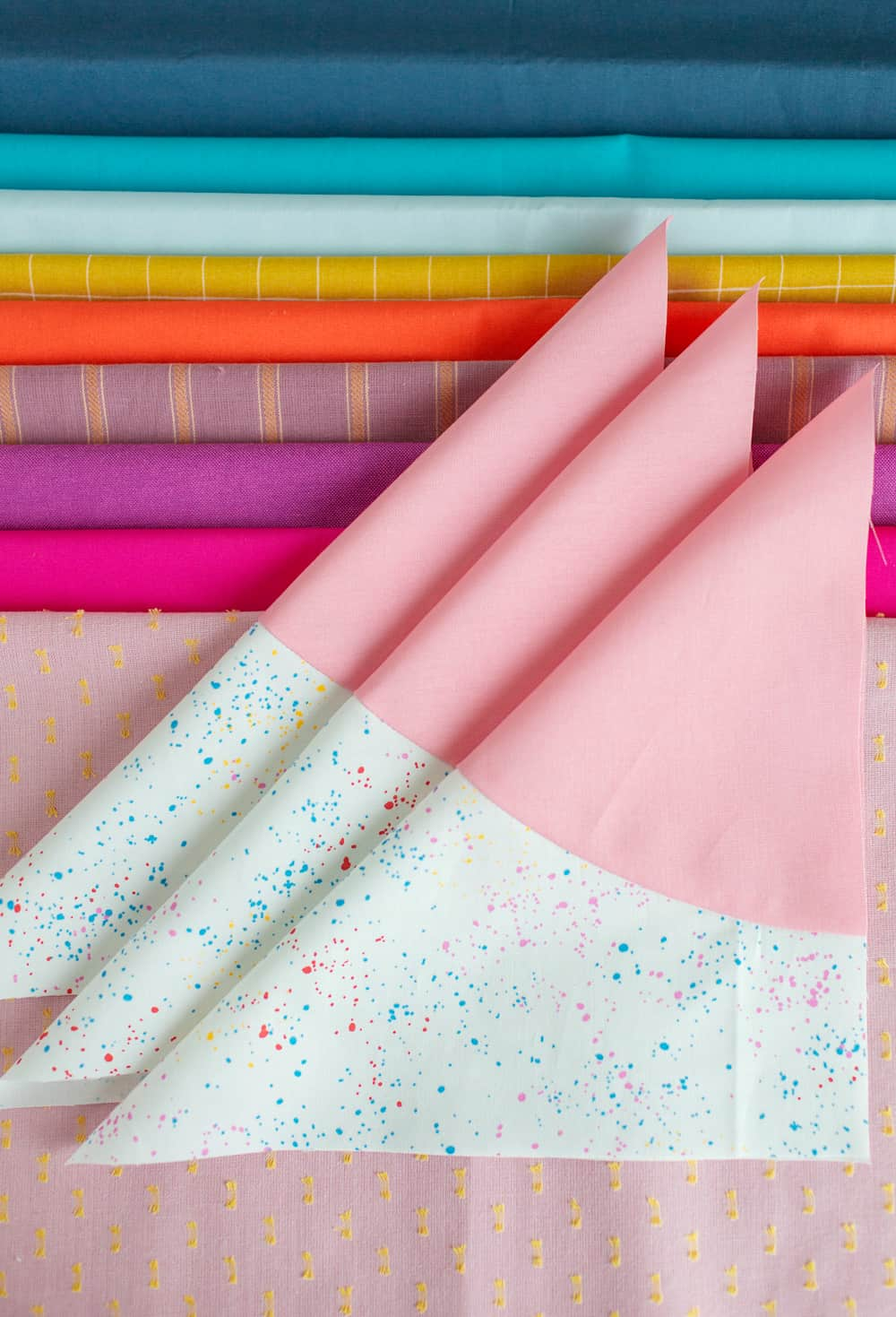 Fabric pull for rainbow Marcella quilt