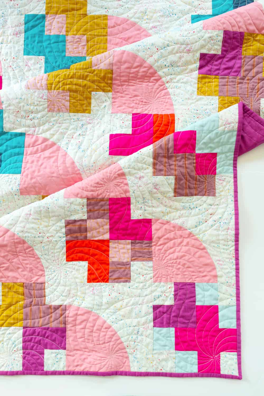 The Marcella and Mae Quilts from Wren Collective -Top Detail of Cover Version 003