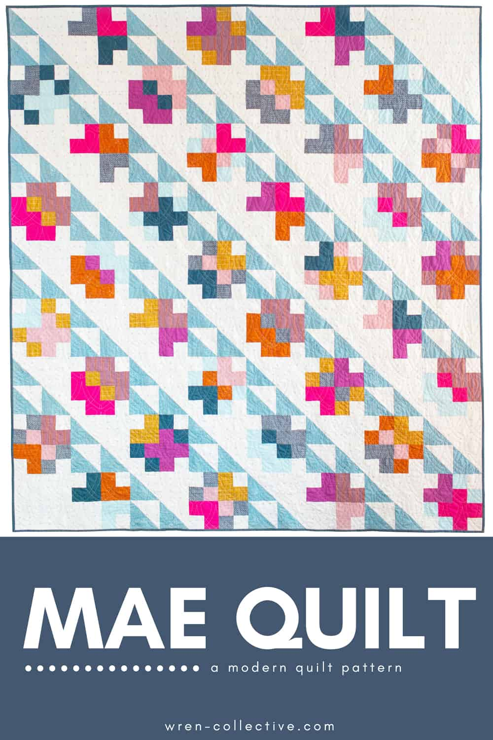The Marcella and Mae Quilt patterns from Wren Collective -Mae Warp and Weft Quilt