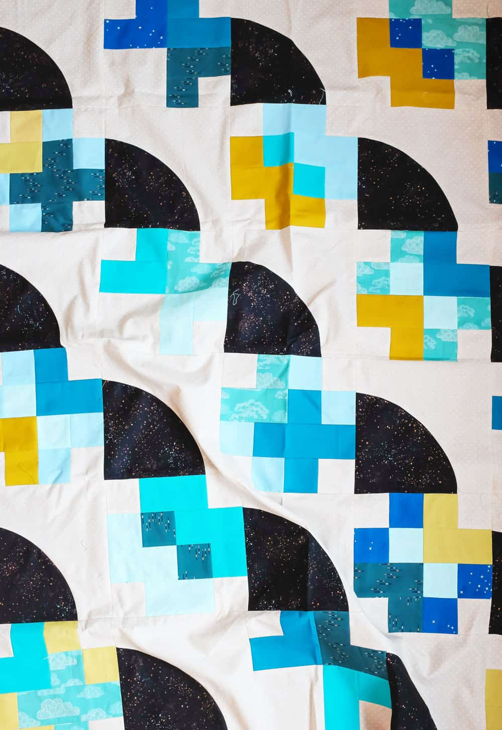 Modern Plus Sign Quilt - The Marcella Quilt Tester Versions - Weekend Quilter 001