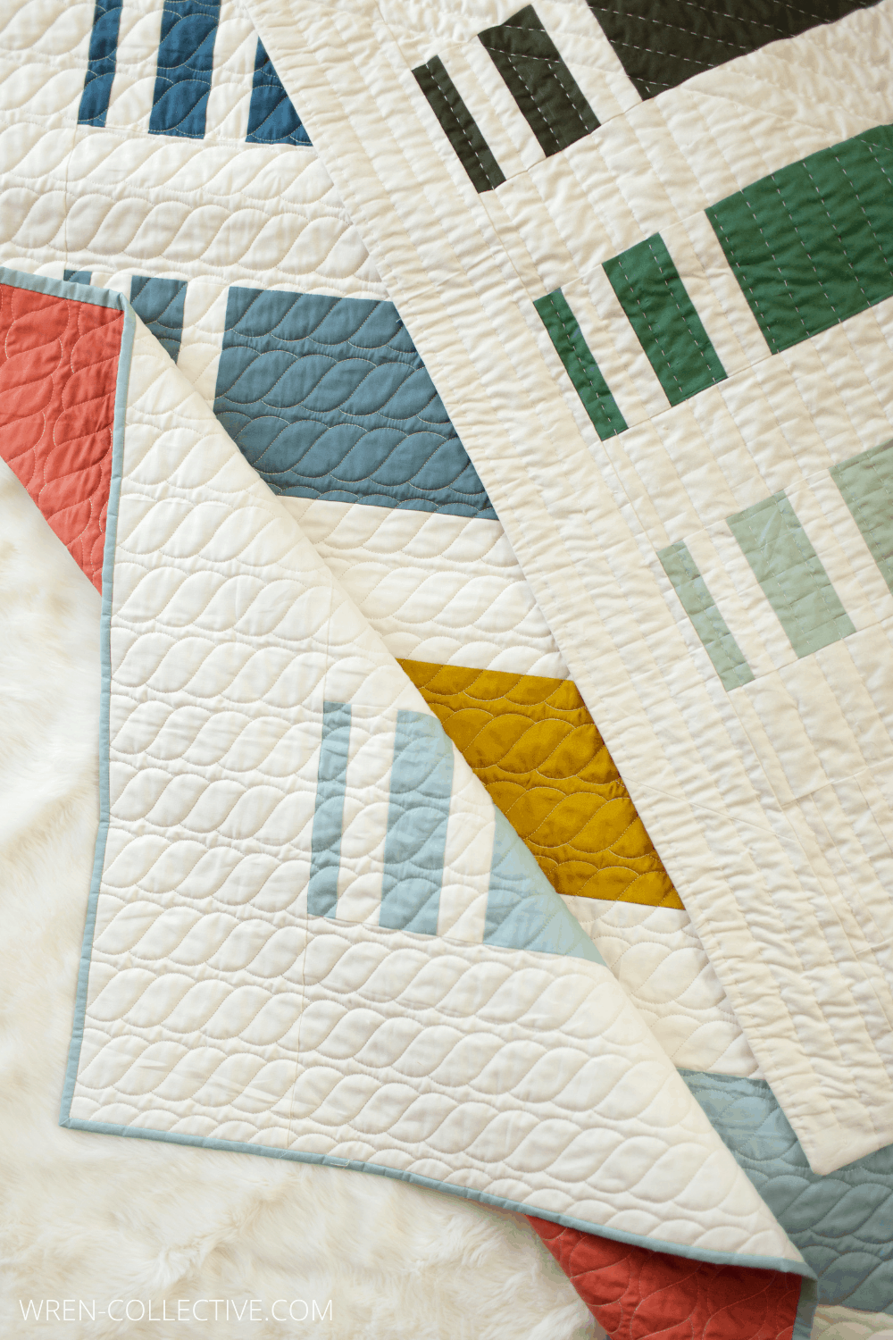 Punch Lines - A Free and Easy Quilt Pattern from Wren Collective