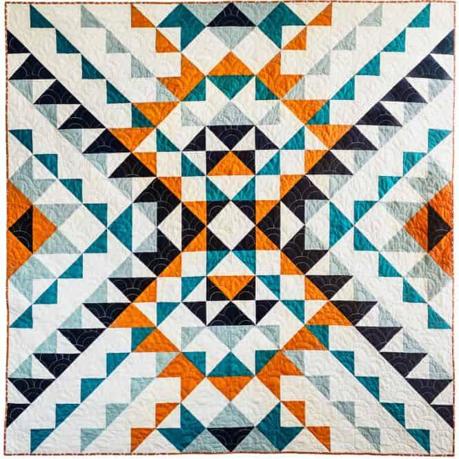 Odyssey Quilt Pattern, a modern quilt pattern from Wren Collective