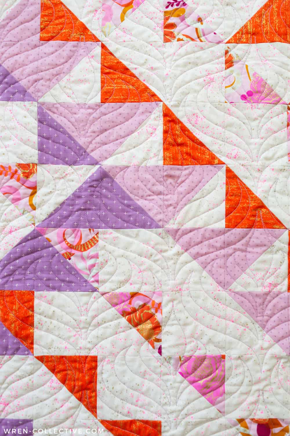 Modern half square triangle quilt - Odyssey quilt from Wren Collective004