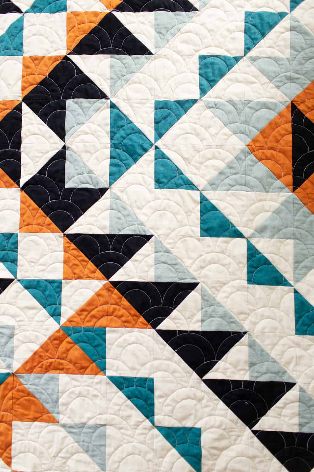 Black and white half square triangles - Odyssey quilt pattern from Wren Collective002