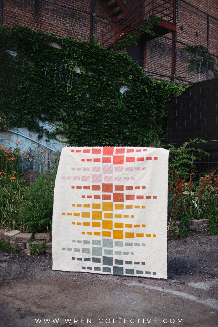 Beginner fat quarter quilt pattern - Aftershock quilt from Wren Collective004