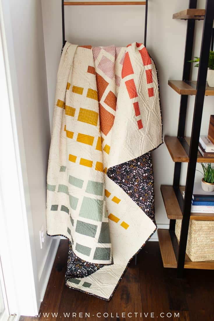 Easy fat quarter quilt pattern - Aftershock quilt from Wren Collective005
