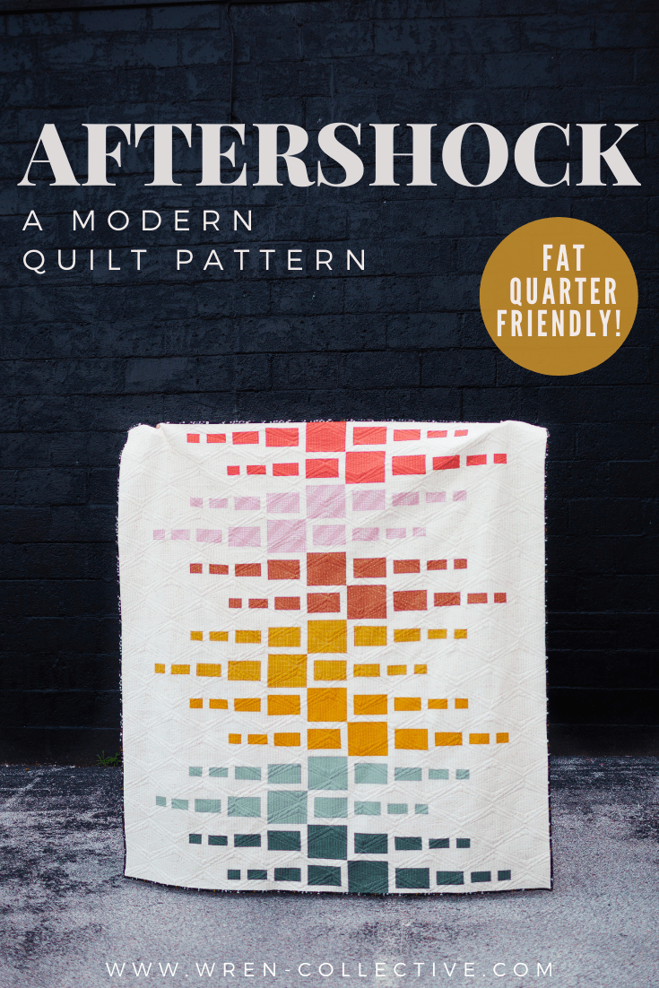 Easy Fat Quarter Quilt Pattern - Aftershock quilt from Wren Collective001