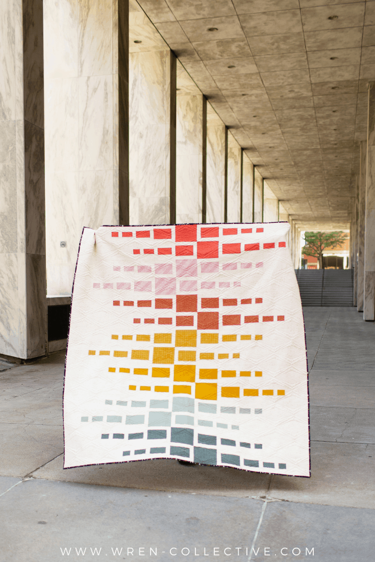 Super simple fat quarter quilt pattern - Aftershock quilt from Wren Collective011