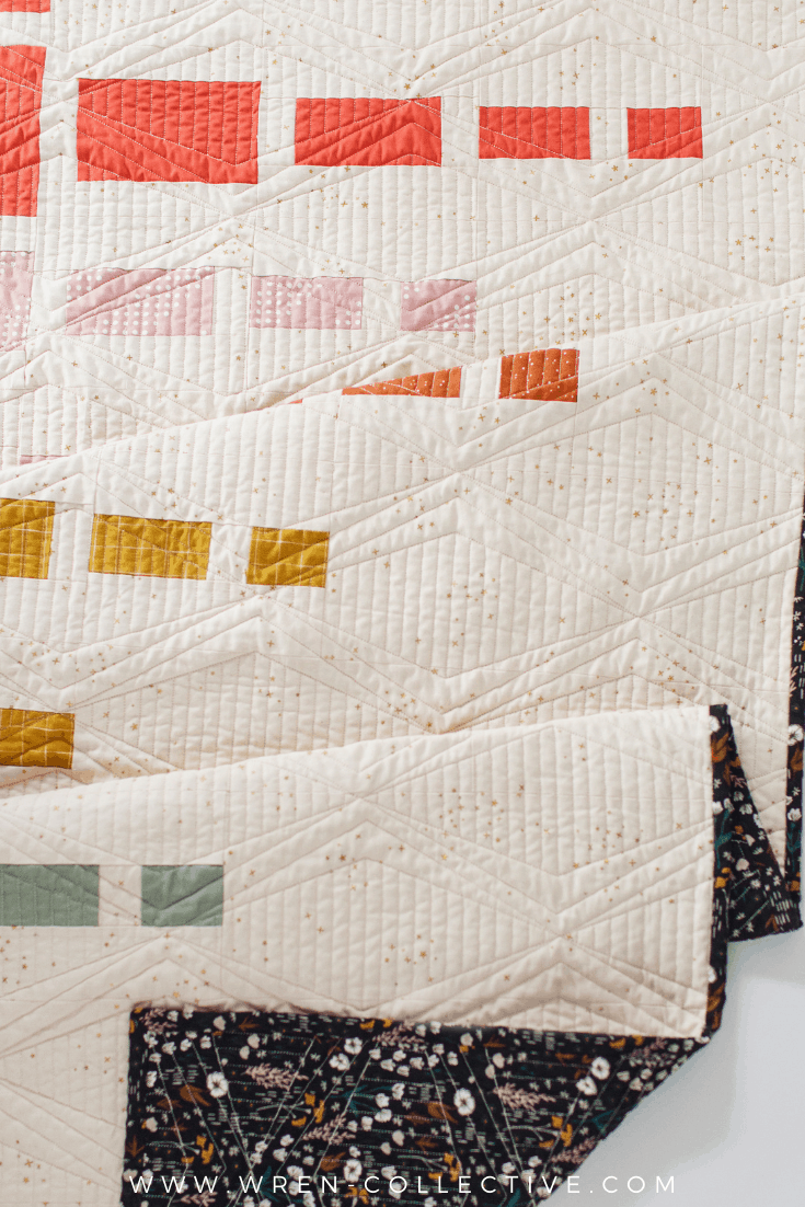 Easy Fat Quarter Quilt Pattern - Aftershock quilt from Wren Collective008